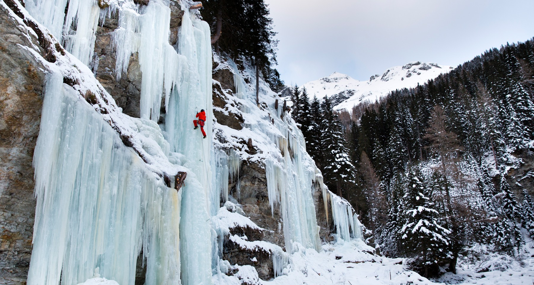 Ice climbing drop in