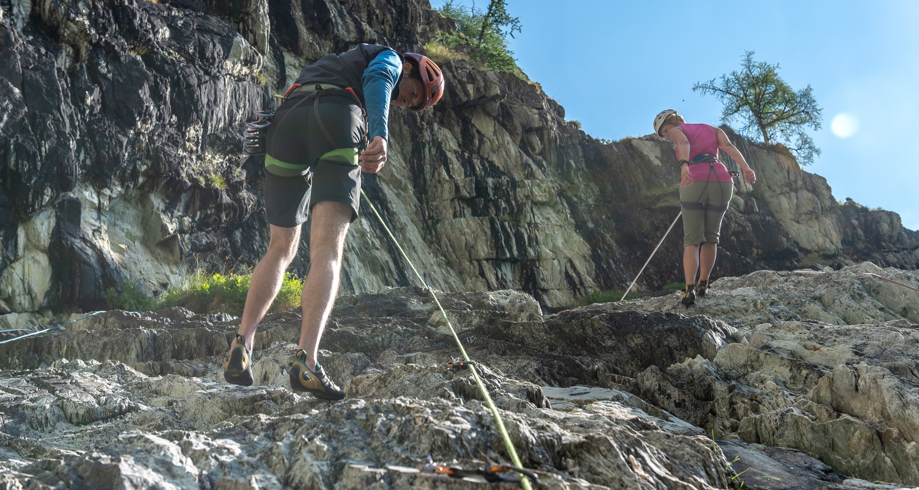 Rock climbing course with an ascent of Grossglockner Stuedl Ridge